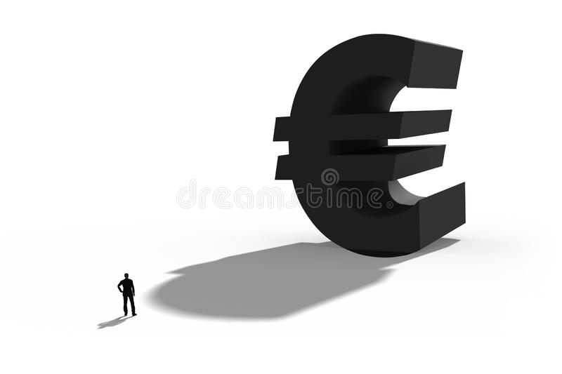 Illustration of the european currency euro, Symbol for business and finance stock image