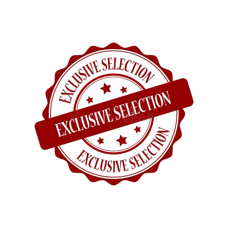 Illustration exclusive de timbre de sélection illustration libre de droits