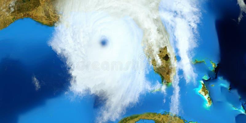 Illustration extrêmement détaillée et réaliste de la haute résolution 3D d'un ouragan Tiré de l'espace Les éléments de cette imag image stock