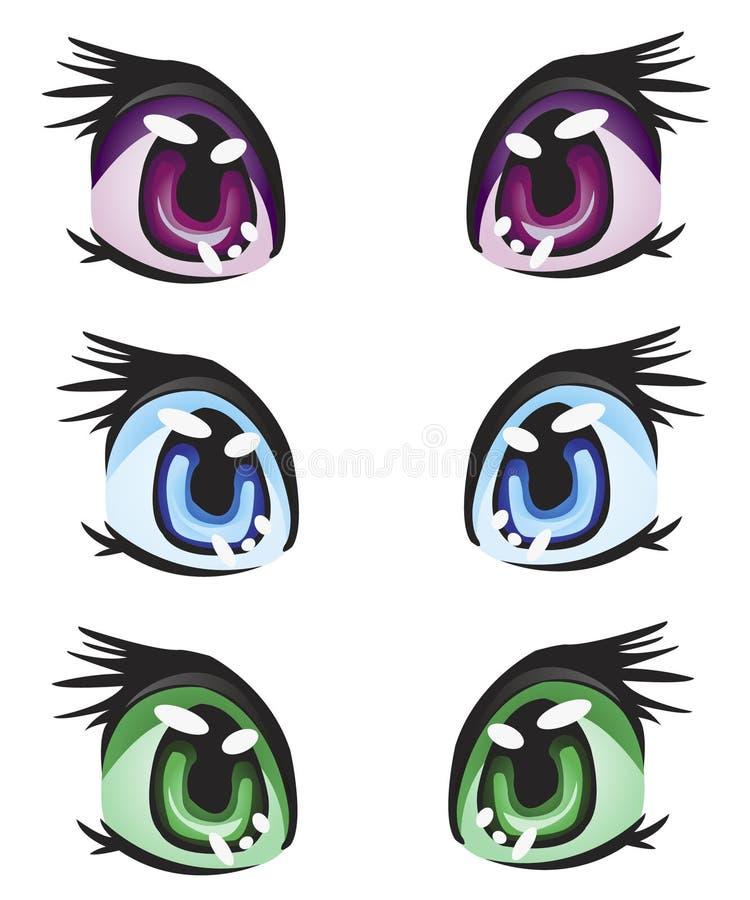 Illustration eye miscellaneous of the colour