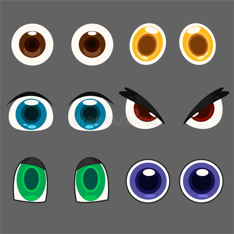 Illustration Eye Set Stock Photo