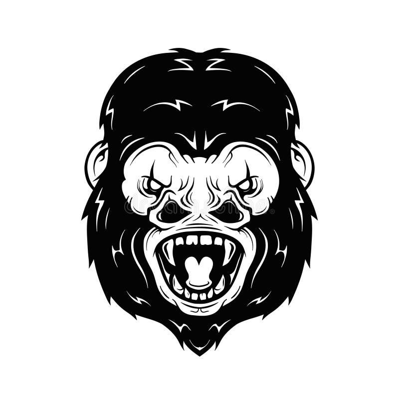 Download Illustration Fâchée De Vecteur De Tête De Gorille Illustration de Vecteur - Illustration du primat, mammifère: 77159908