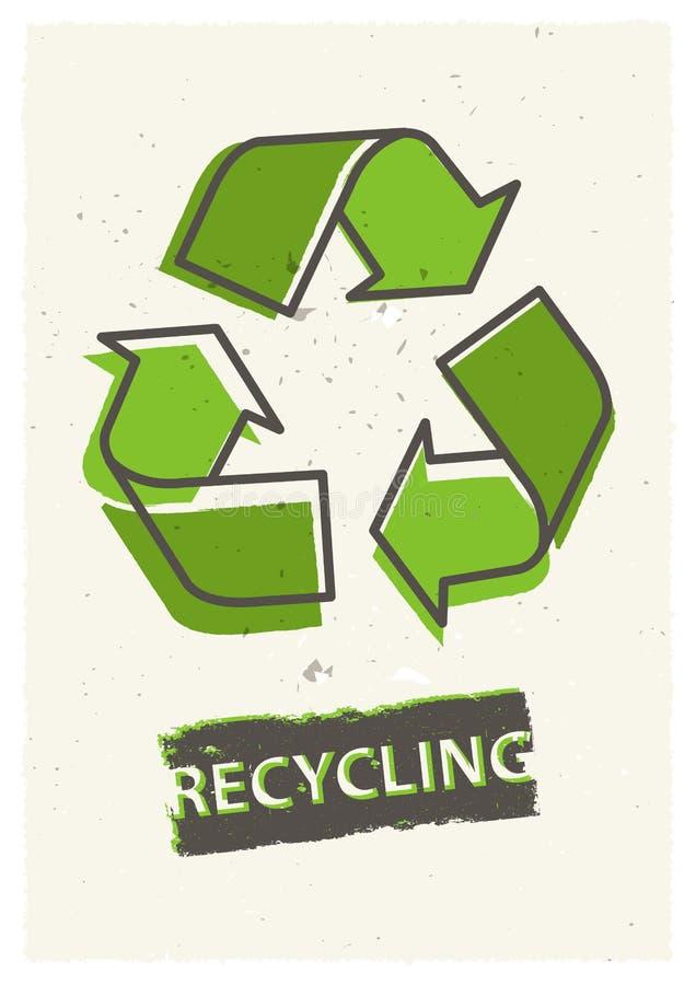Illustration för återvinninggrungevektor vektor illustrationer