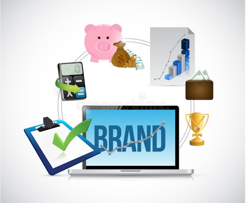 Illustration för affärsmärkesbegrepp royaltyfri illustrationer