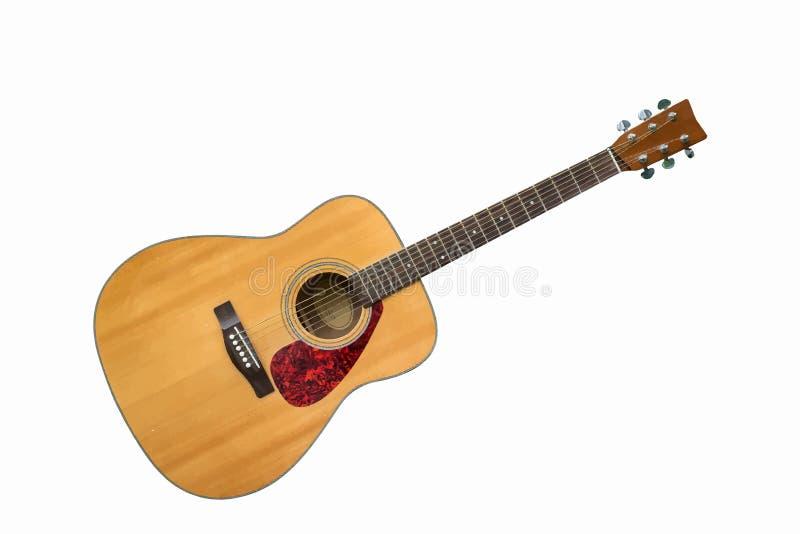 Illustration för akustisk gitarr vektor illustrationer