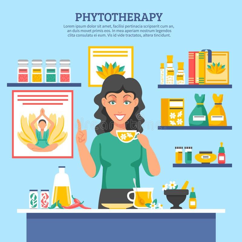 Illustration för alternativ medicin stock illustrationer