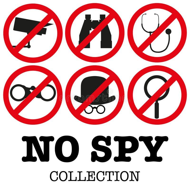 illustration för Anti--spyware symbolsvektor royaltyfri illustrationer