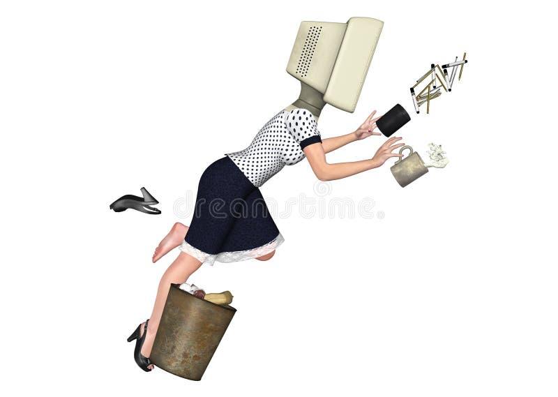 Illustration för arbetare för arbetsplatssäkerhet oförsiktig royaltyfri illustrationer