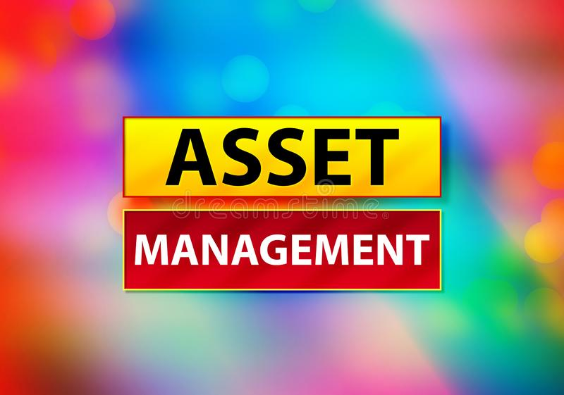 Illustration för Asset Management abstrakt färgrik bakgrundsBokeh design stock illustrationer