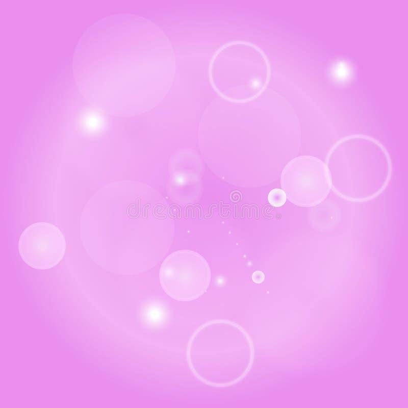 Illustration för bakgrund för vektor för gnistrandecirklar abstrakt Abstrakt skinande blänker vektor illustrationer