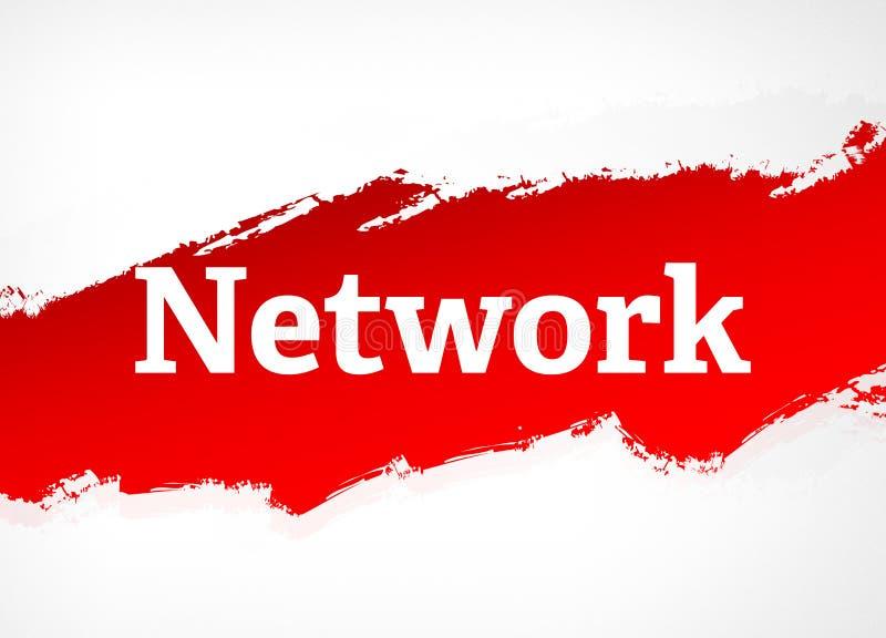 Illustration för bakgrund för röd borste för nätverk abstrakt stock illustrationer