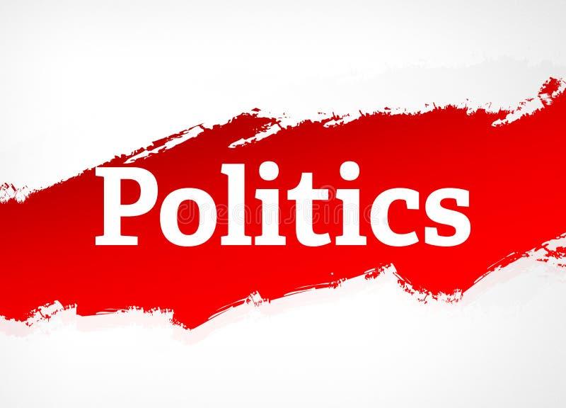 Illustration för bakgrund för röd borste för politik abstrakt royaltyfri illustrationer