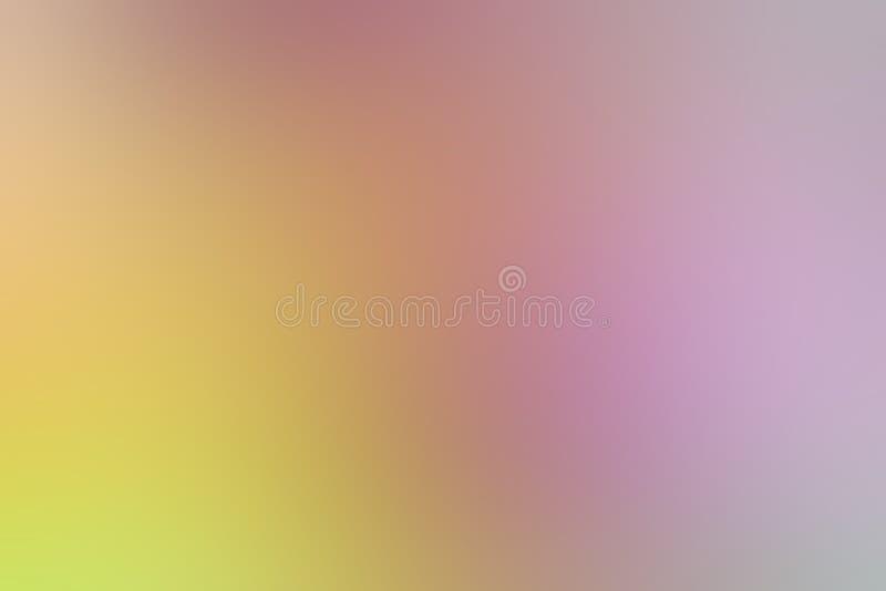 Illustration för bakgrund för suddig ton för lutningguling rosa färgrik pastellfärgad mjuk för bakgrund för skönhetsmedelbaneradv vektor illustrationer