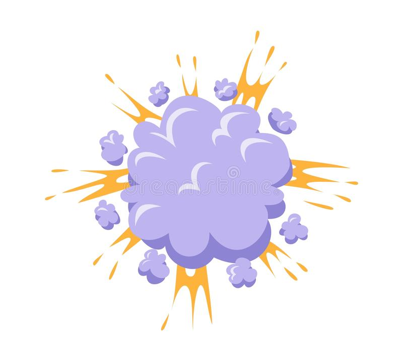 Illustration för bangexplosionvektor stock illustrationer