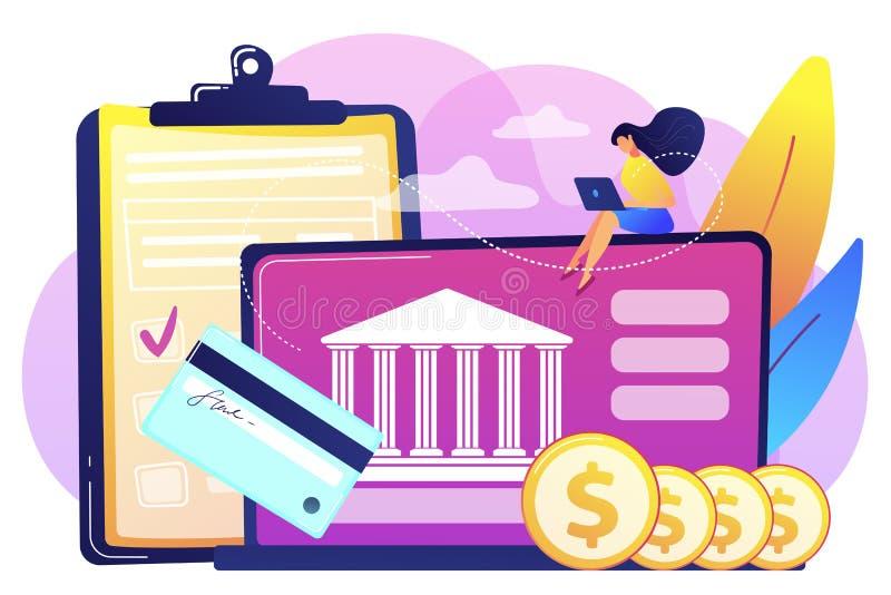 Illustration för bankkontobegreppsvektor royaltyfri illustrationer