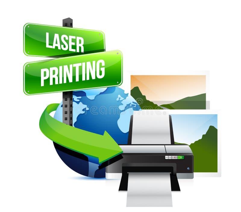 Illustration för begrepp för laser-printing royaltyfri illustrationer
