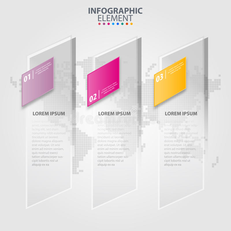 Illustration för beståndsdelar för design för affärsInfographics stordia stock illustrationer