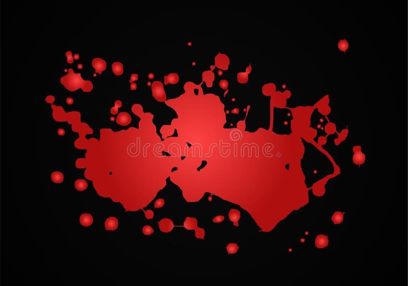 Illustration för blodfärgstänkvektor Rött vektor illustrationer