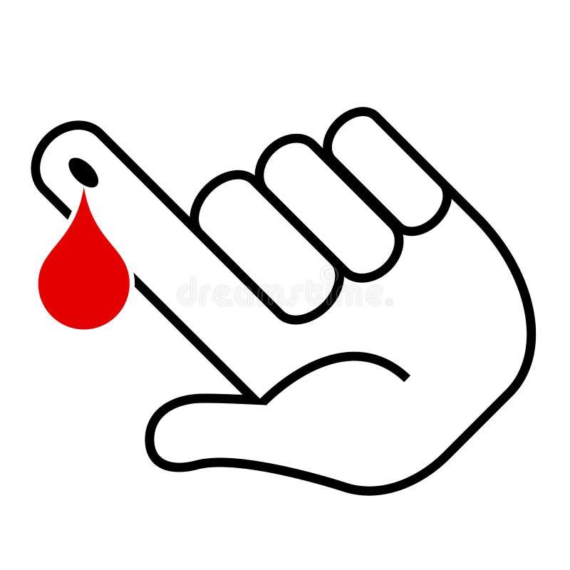 Illustration för blodprov stock illustrationer
