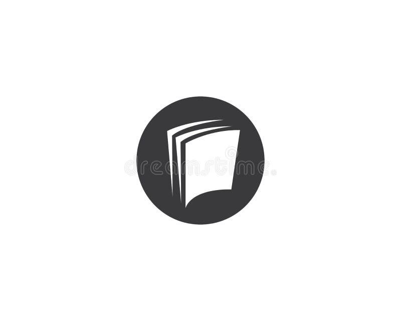 Illustration för boklogosymbol stock illustrationer