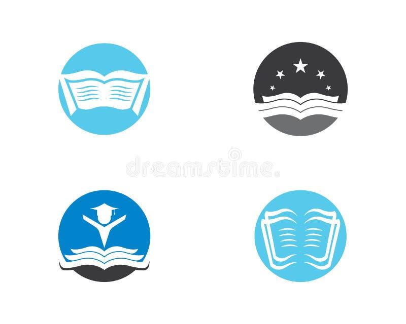 Illustration för boklogosymbol royaltyfri illustrationer