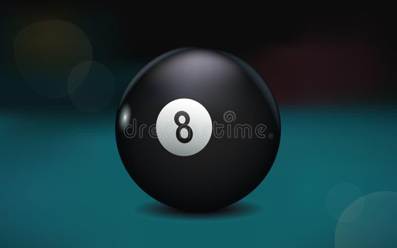 Illustration för 8 boll royaltyfria foton