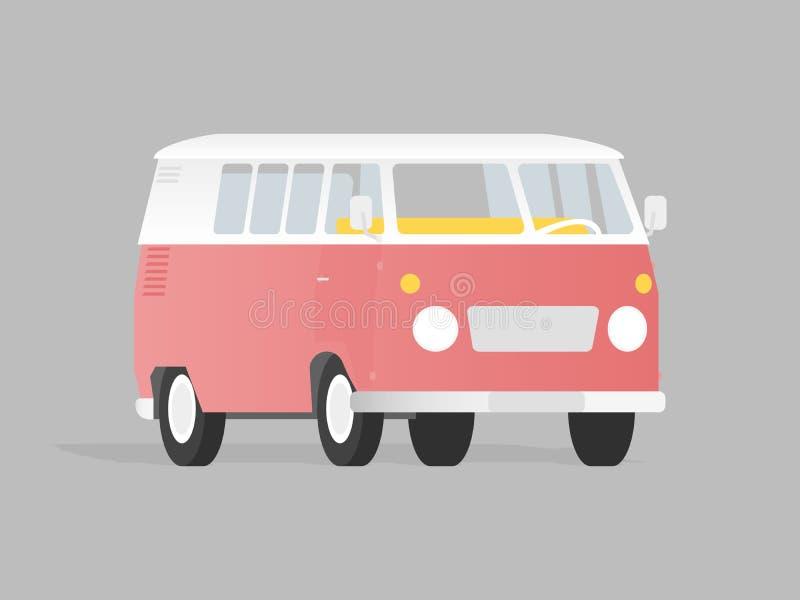 Illustration för campareskåpbil vektor illustrationer