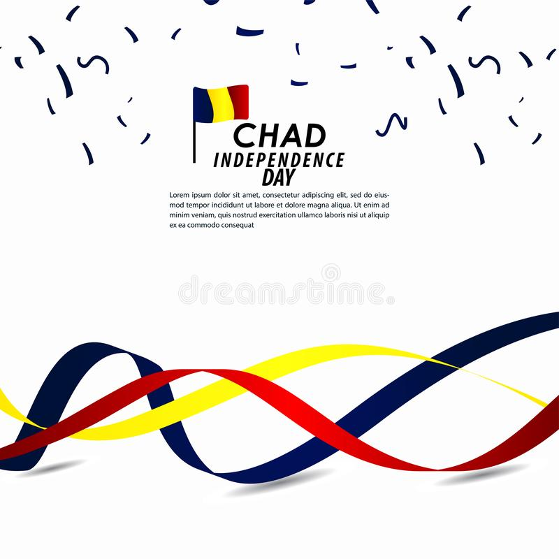 Illustration för Chad Independence Day Celebration Vector malldesign vektor illustrationer