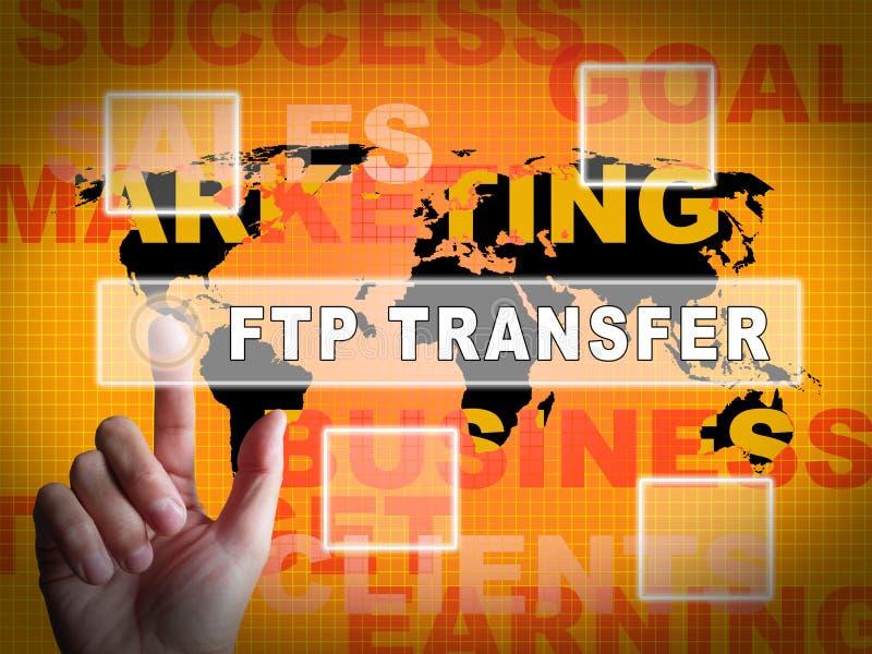 Illustration för data 3d för Ftp-mappöverföring överförande stock illustrationer