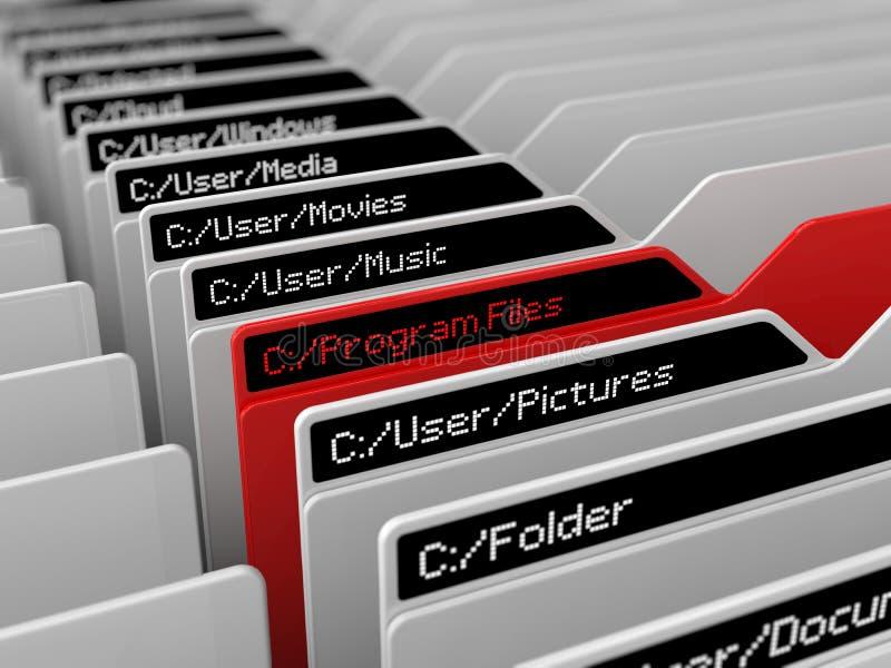 Illustration för dataregistersystem royaltyfri illustrationer