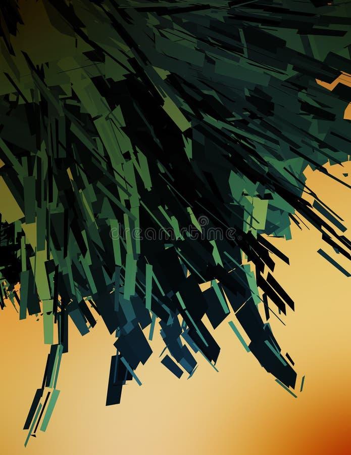 illustration för dator 3d arkivbild