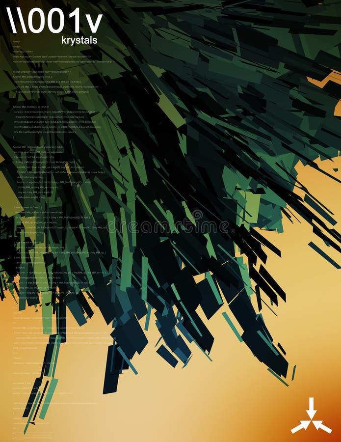 illustration för dator 3d royaltyfri illustrationer