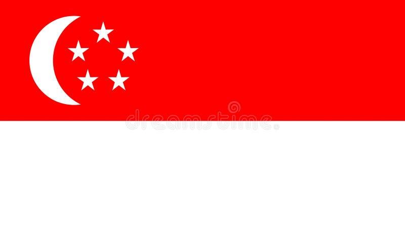 Illustration för datordiagram av den Singapore flaggan stock illustrationer