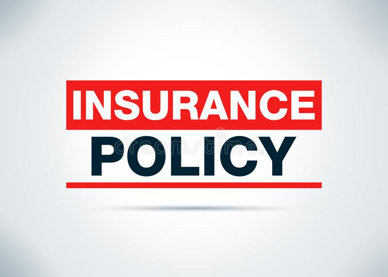 Illustration för design för bakgrund för försäkringpolitik abstrakt plan stock illustrationer