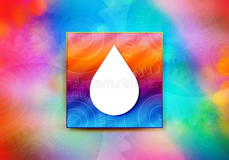 Illustration för design för bokeh för bakgrund för vattendroppsymbol abstrakt färgrik vektor illustrationer