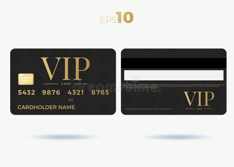 Illustration för design för vektor för uppsättning för Vip-medlemkort royaltyfri illustrationer