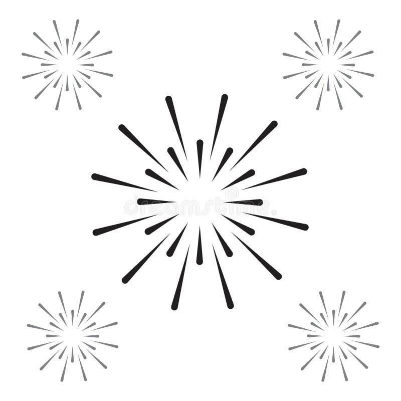 Illustration för design för fyrverkerivektormall royaltyfri illustrationer