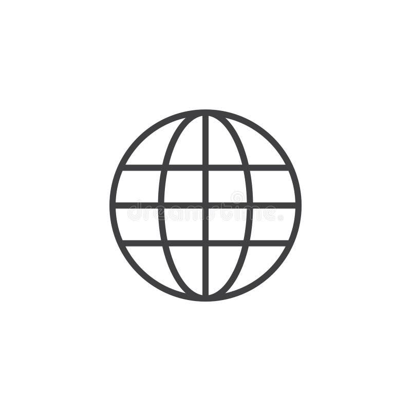 Illustration för design för jordklotvektormall royaltyfri illustrationer