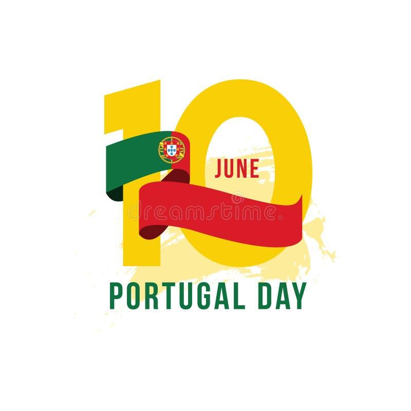 Illustration för design för mall för Portugal dagvektor royaltyfri illustrationer