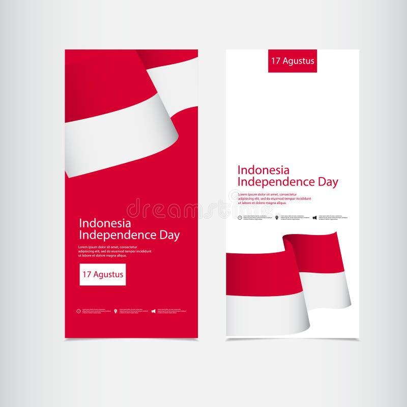 Illustration för design för mall för vektor för Indonesien självständighetsdagenberöm vektor illustrationer