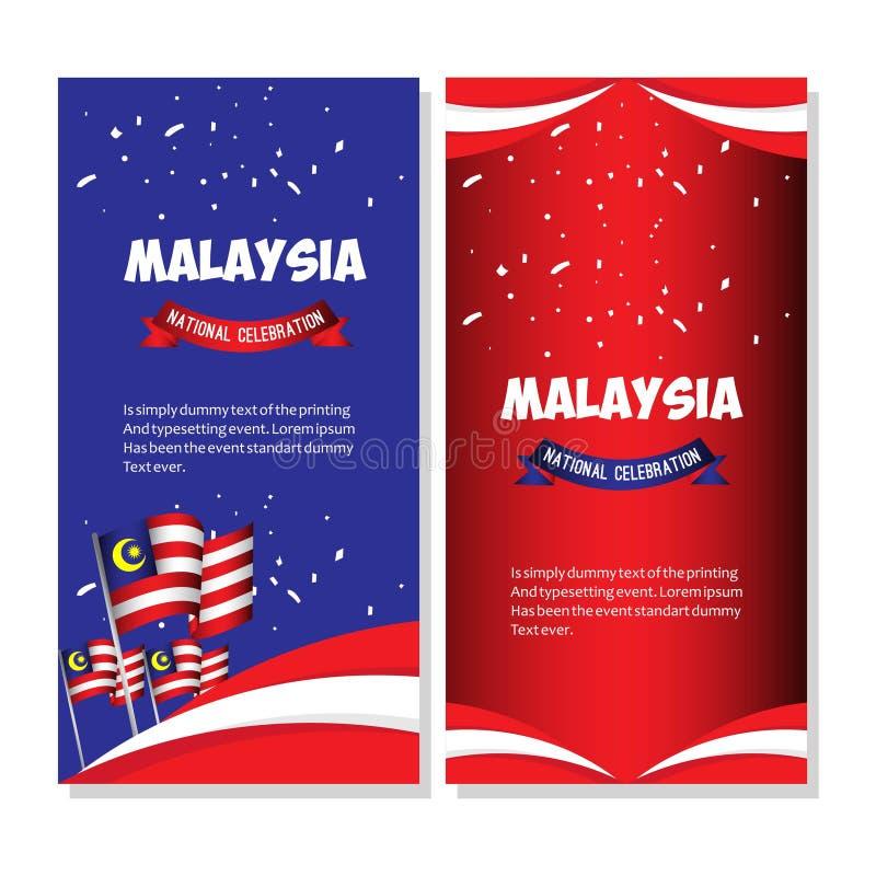 Illustration för design för mall för vektor för Malaysia nationell berömaffisch stock illustrationer
