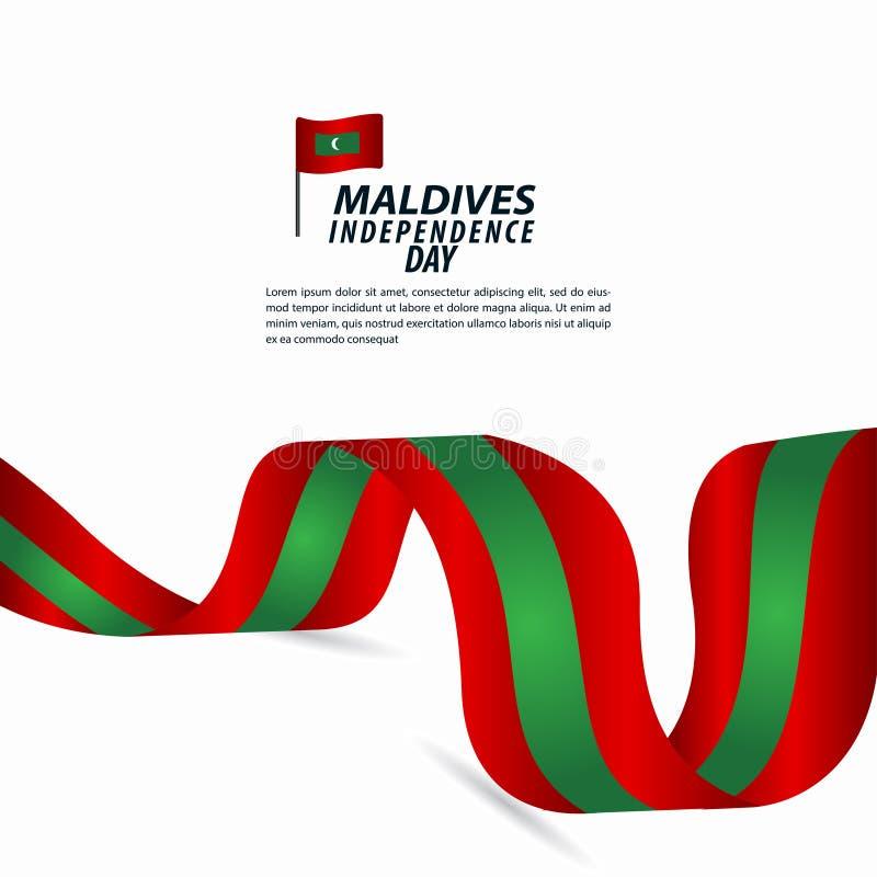 Illustration för design för mall för vektor för Maldiverna självständighetsdagenberöm vektor illustrationer