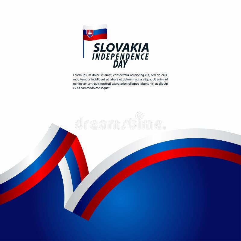 Illustration för design för mall för vektor för Slovakien självständighetsdagenberöm vektor illustrationer