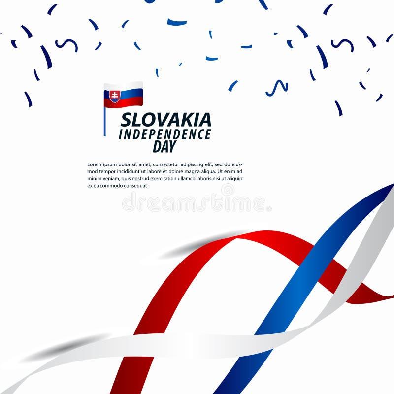 Illustration för design för mall för vektor för Slovakien självständighetsdagenberöm royaltyfri illustrationer