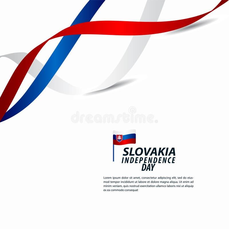 Illustration för design för mall för vektor för Slovakien självständighetsdagenberöm stock illustrationer