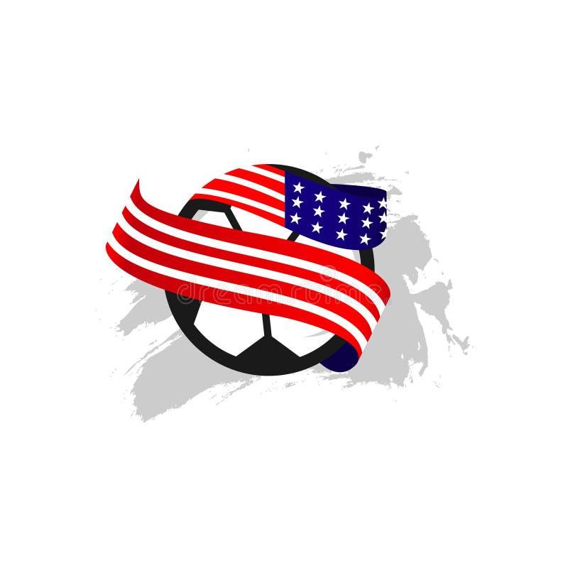 Illustration för design för mall för vektor för USA fotbollklubba royaltyfri illustrationer