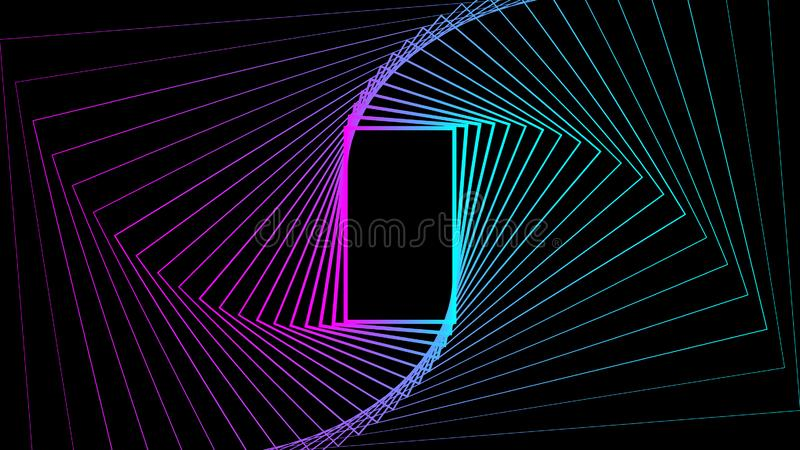 Illustration för design för vektor för färg för lutning för bakgrund för geometrisk formrektangel abstrakt hemlig stock illustrationer