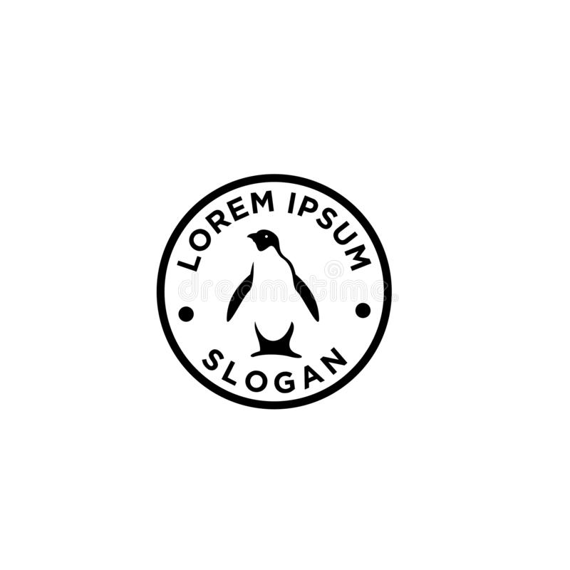 Illustration för designer för symbol för Adelie pingvinlogo royaltyfri illustrationer