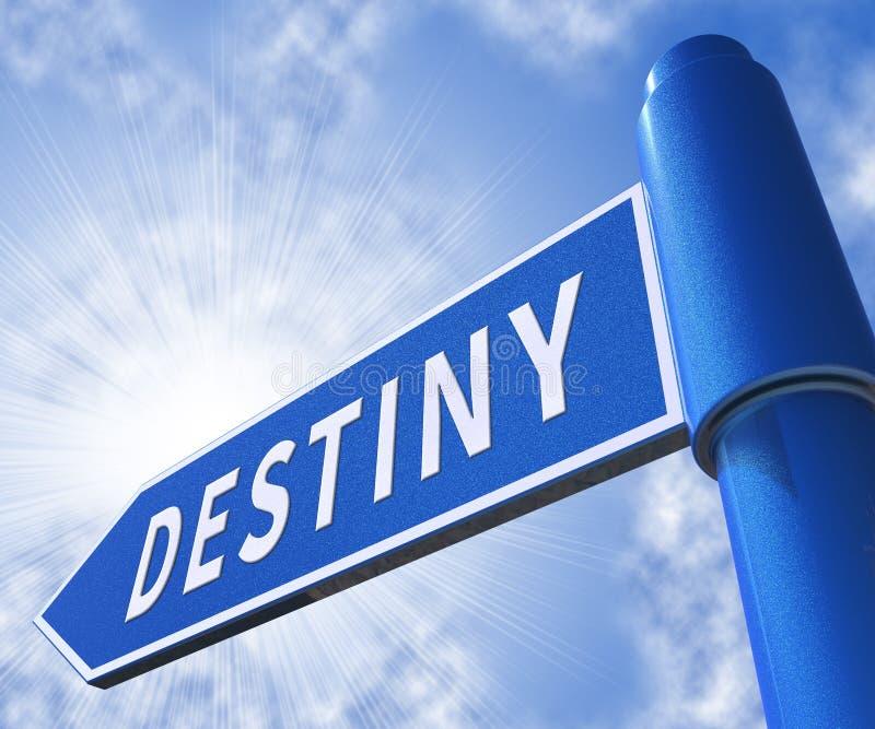 Illustration för Destiny Sign Meaning Progress And förutsägelse 3d vektor illustrationer