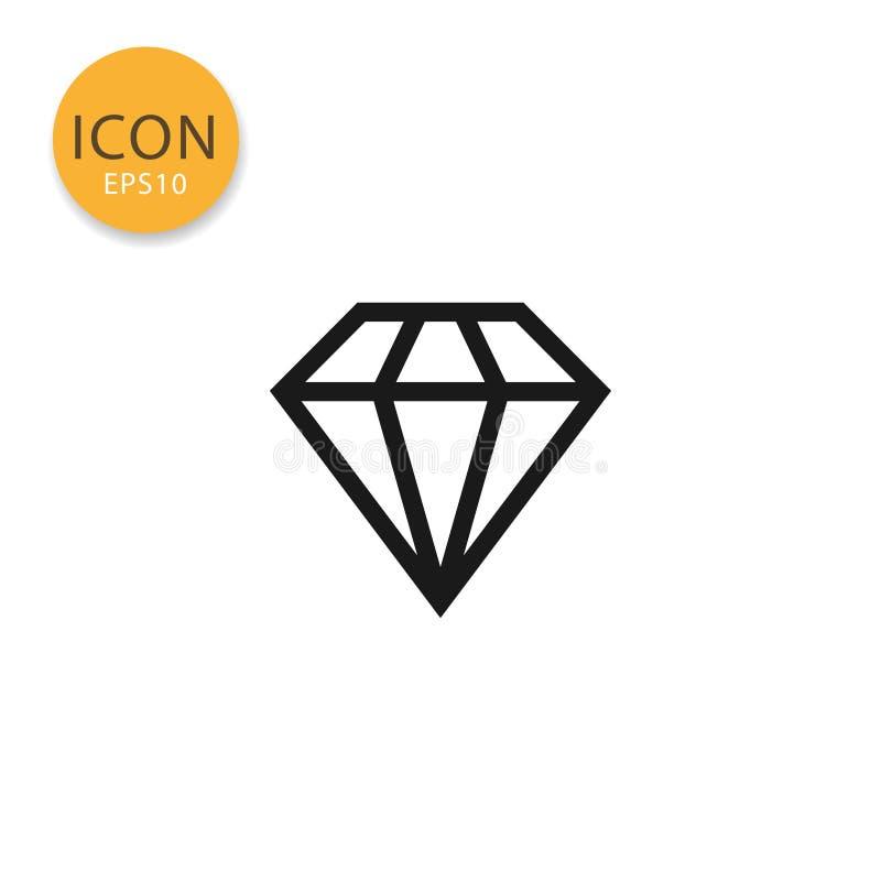 Illustration för diamantsymbolsvektor stock illustrationer